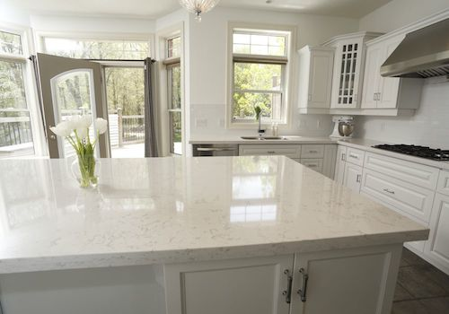 Marble Look Quartz Countertops : Cambria torquay looks like white carrara marble