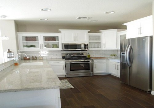 Kashmir White Granite Countertops White Cabinets