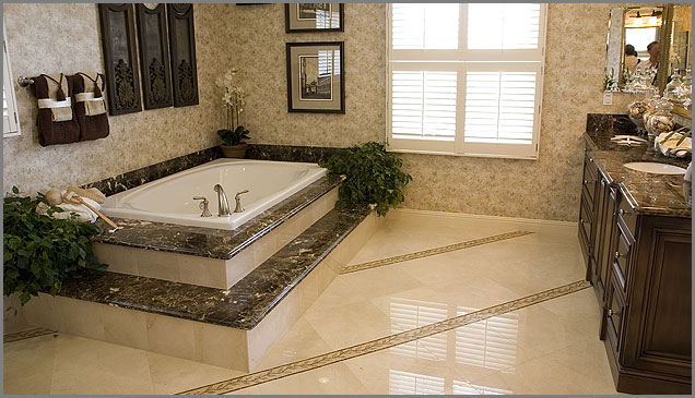 Emperador Dark Marble Bathroom Countertops Ideas