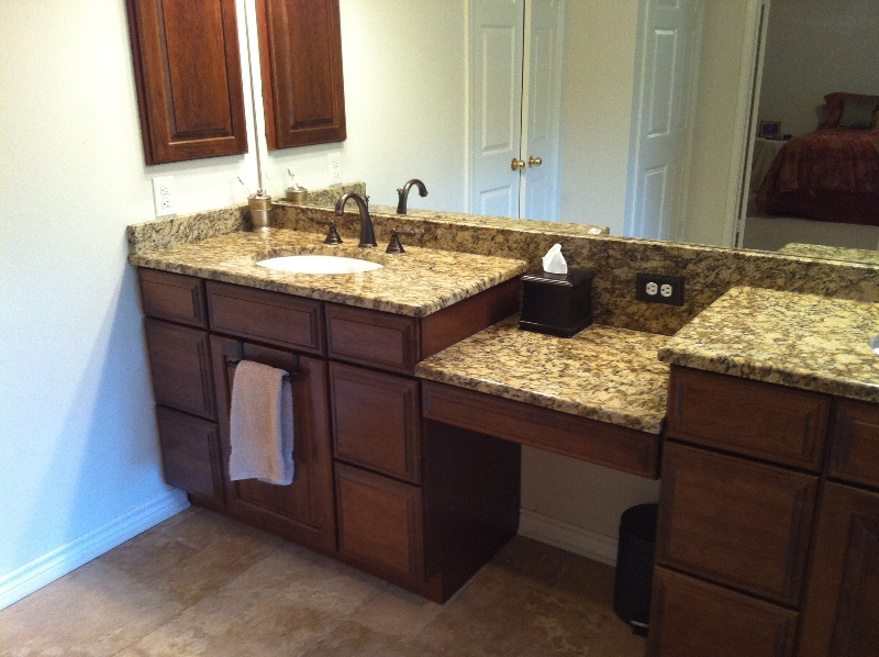 Santa Cecilia Granite Bathroom Countertops Ideas
