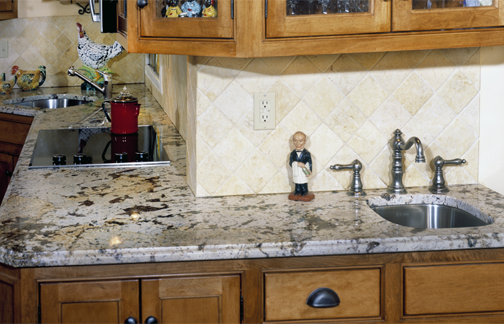 Crema Delicatus Granite Countertops Design Ideas
