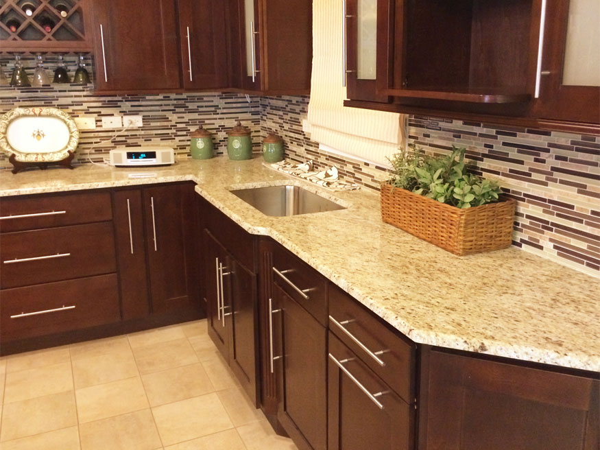Giallo Ornamental Granite Countertops Design Ideas