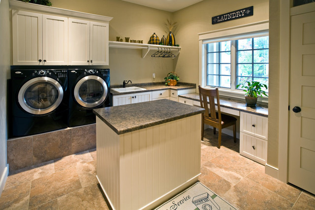Laundry Room Granite Countertops Design Ideas