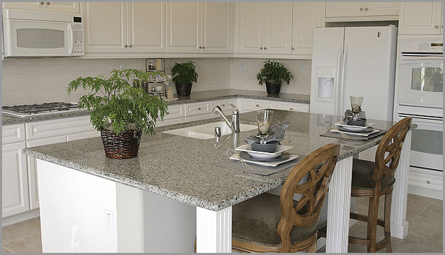 Luna Pearl Granite Kitchen Countertops Design Ideas