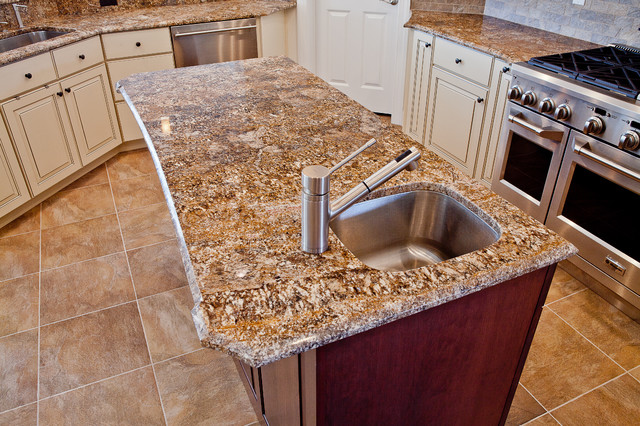 Chocolate Bordeaux Granite Countertops Design Ideas