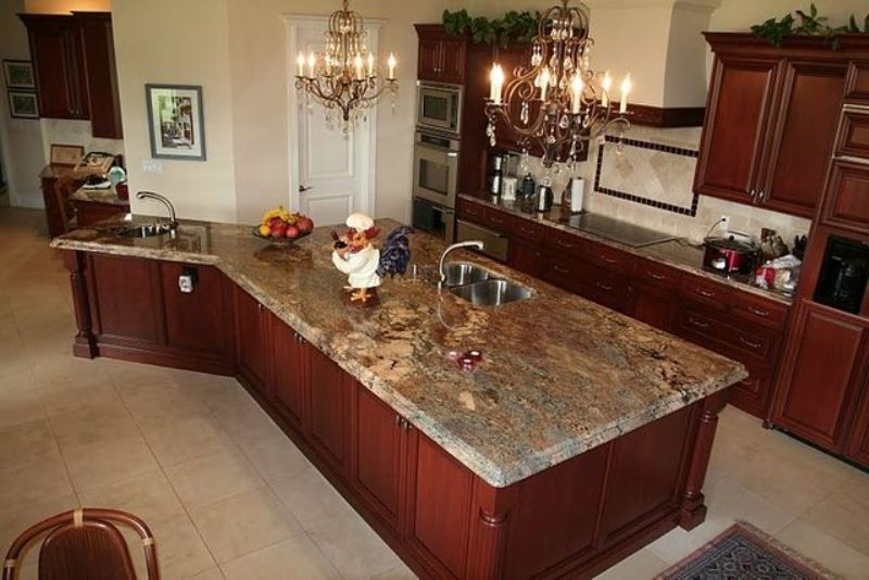 Crema Bordeaux Granite Countertop Design Ideas