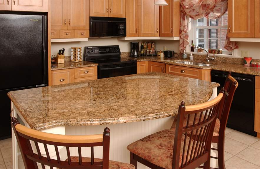 Giallo Veneziano Granite Kitchen Countertop Design Ideas