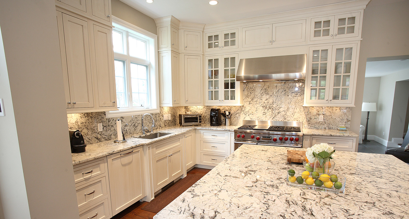 Persian pearl granite countertop kitchen design ideas for Granite countertop design ideas