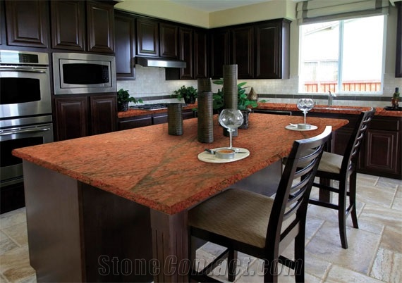 Red Dragon Granite Countertops Kitchen Design Ideas