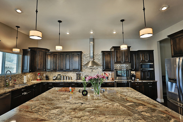 River Bordeaux Granite Countertops Kitchen Design Ideas