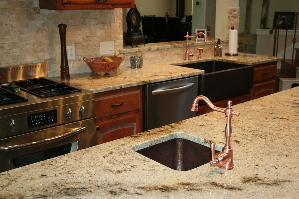 Granite Sandstone Countertop With Tan Cabinet Kitchen Design Ideas ~ Sienna beige granite countertop kitchen design ideas
