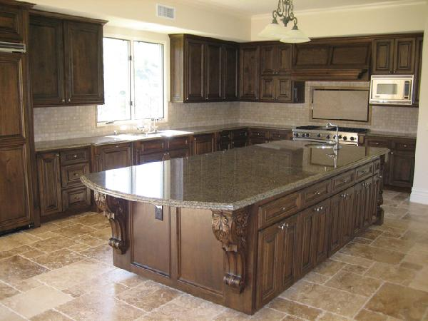 Tropical Brown Granite Countertops Design Ideas