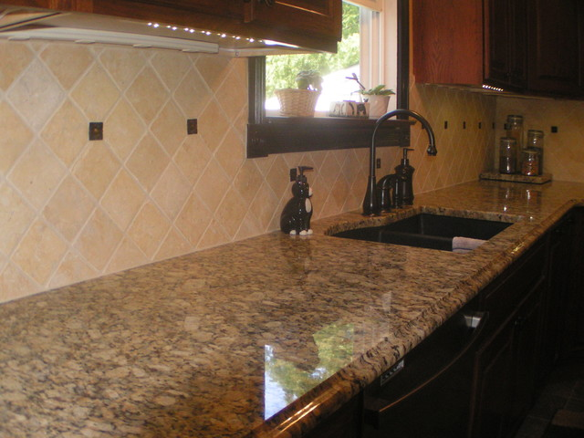 Giallo Napoleon Granite Countertops Kitchen Design Ideas