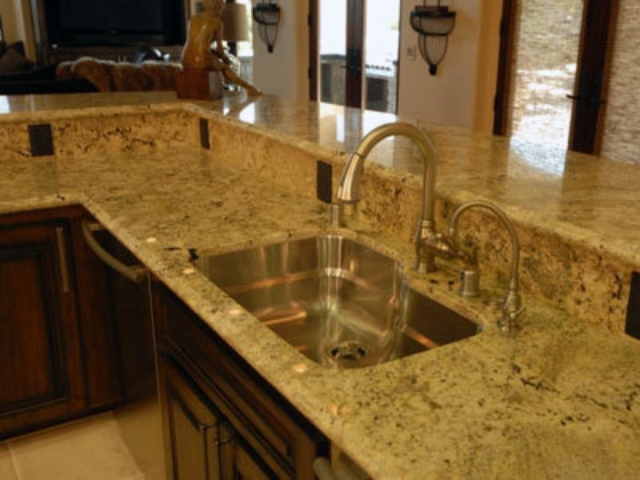 Golden Beach Granite Countertops Kitchen Design Ideas