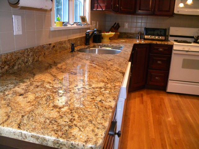Golden Crystal Granite  Countertops Kitchen Design Ideas