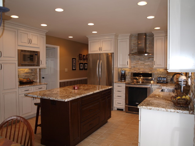 Golden Persa Granite Countertops Kitchen Design Ideas