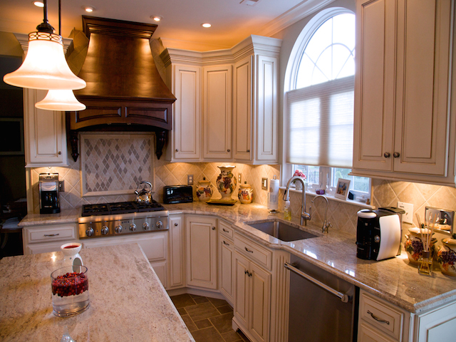 Kashmir Gold Granite Kitchen Countertops Design Ideas