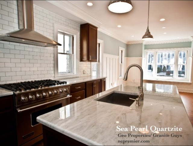 Sea Pearl Quartzite Countertops Kitchen Design Ideas