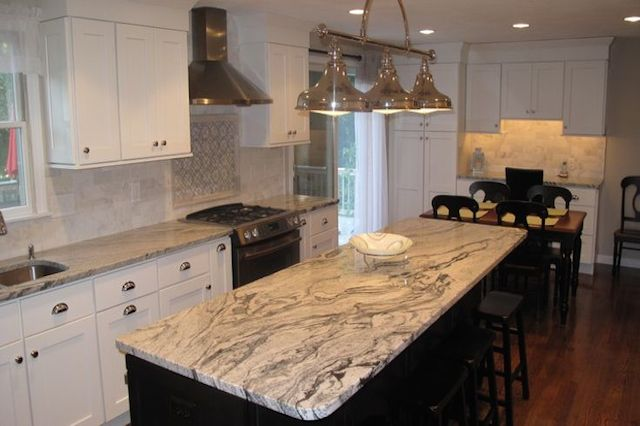 Silver Cloud Granite Countertops Kitchen Design Ideas
