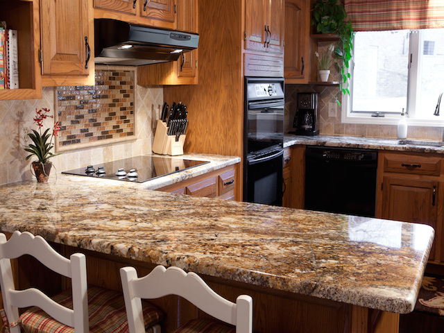 Betularie granite countertop kitchen design ideas for Countertop decor ideas