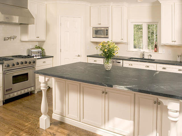 Grey Soapstone Kitchen Countertops Design Ideas