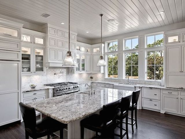 White Ice Granite Kitchen Countertop Design Ideas