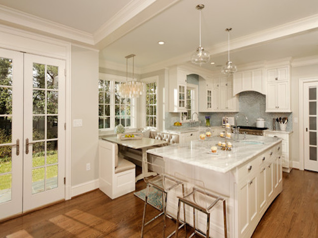 White Pearl Quartzite  Countertops Kitchen Design Ideas
