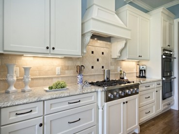 Bianco Romano Granite Countertops White Cabinets