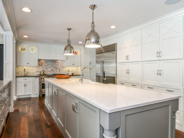 Silestone Bianco River Quartz Kitchen Countertops