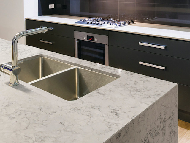 Silestone Quartz Countertops For Kitchens : Silestone helix quartz kitchen countertops design ideas