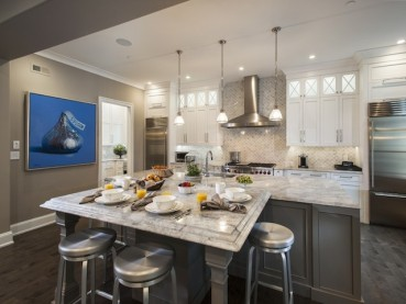 White Fantasy Quartzite  Countertops Kitchen Design Ideas