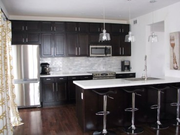 Black Cabinets White Countertops Kitchen Design Ideas