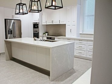 Caesarstone Alpine Mist Quartz Kitchen Countertop