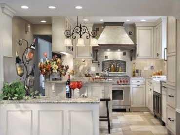 Santa Cecilia Light Granite White Cabinets Backsplash Ideas