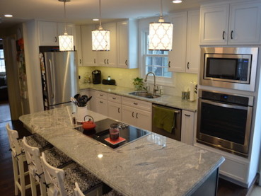 Viscount White Granite White Cabinets Backsplash Ideas