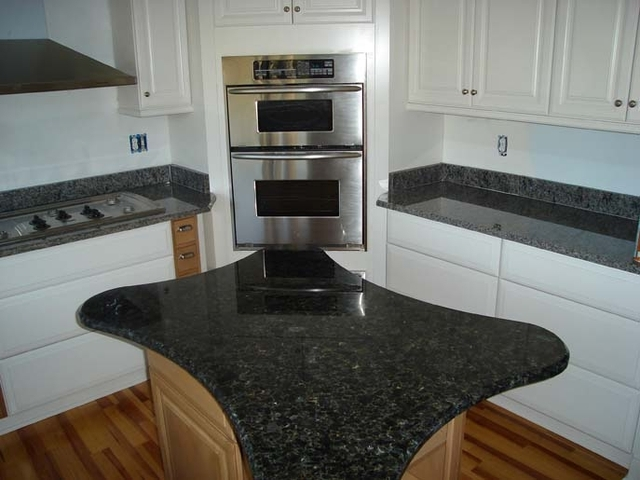 Miscellaneous volga blue granite best material for for Blue countertops kitchen ideas