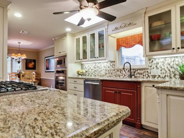 White Granite Countertops Modern Kitchen Designs