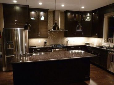 Backsplash Ideas Dark Cabinets Dark Countertops
