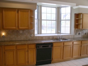 Brown Granite Countertop Travertine Backsplash Ideas