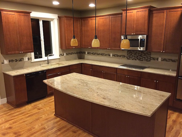 Astoria granite countertop backsplash ideas for Granite countertop design ideas