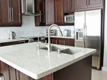 Backsplash Color Selection Looks Best White Granite