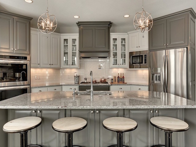 Granite Kitchen Design Ideas ~ Moon white granite kitchen countertop design ideas