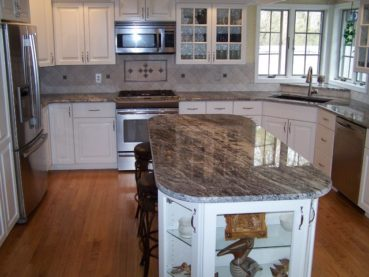 Thunder White Granite Kitchen Countertops Design Ideas