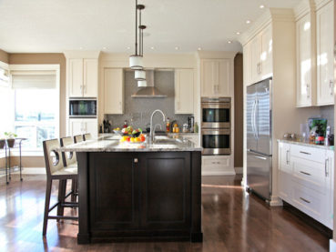 White Kitchen Cabinets Dark Island Cabinet Combinations