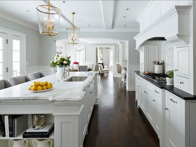 White kitchen cabinets white countertops design ideas for Countertop decor ideas