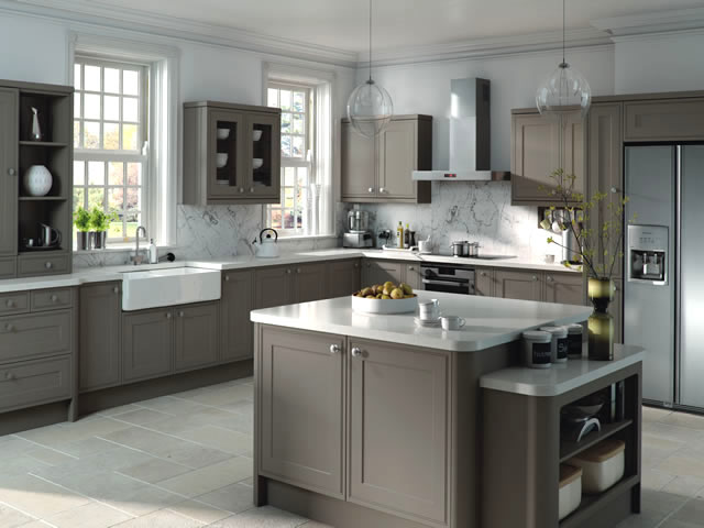 Stone Gray Kitchen Cabinet Design Ideas ~ Popular gray kitchen cabinets countertop designs