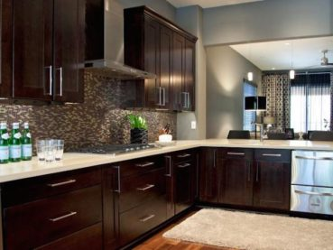 Espresso Color Kitchen Cabinets Countertop Ideas