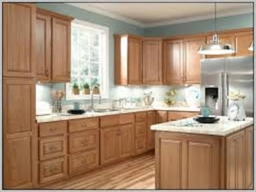 Light Brown Kitchen Cabinets Countertop Design Ideas