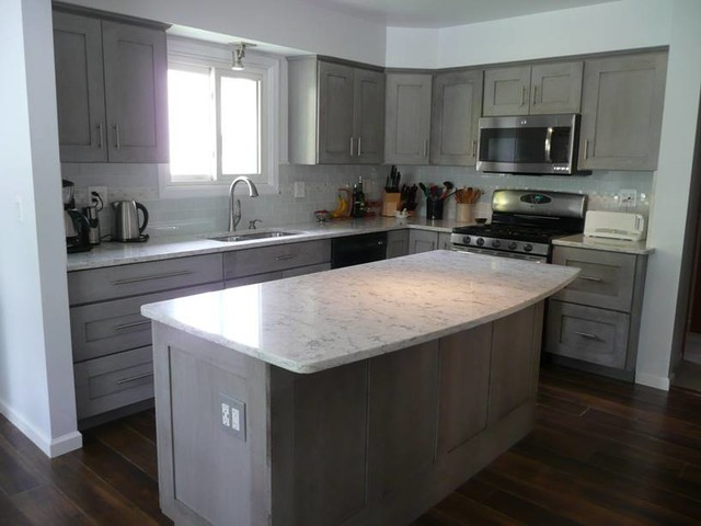 Marble Look Quartz Countertops : White marble look kitchen quartz countertops ideas