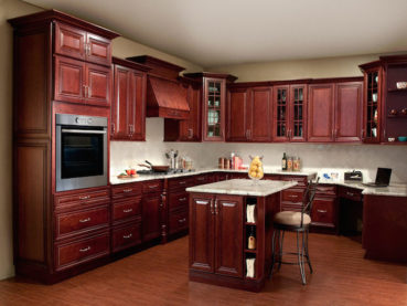 Cherry Kitchen Cabinets Countertops Design Ideas